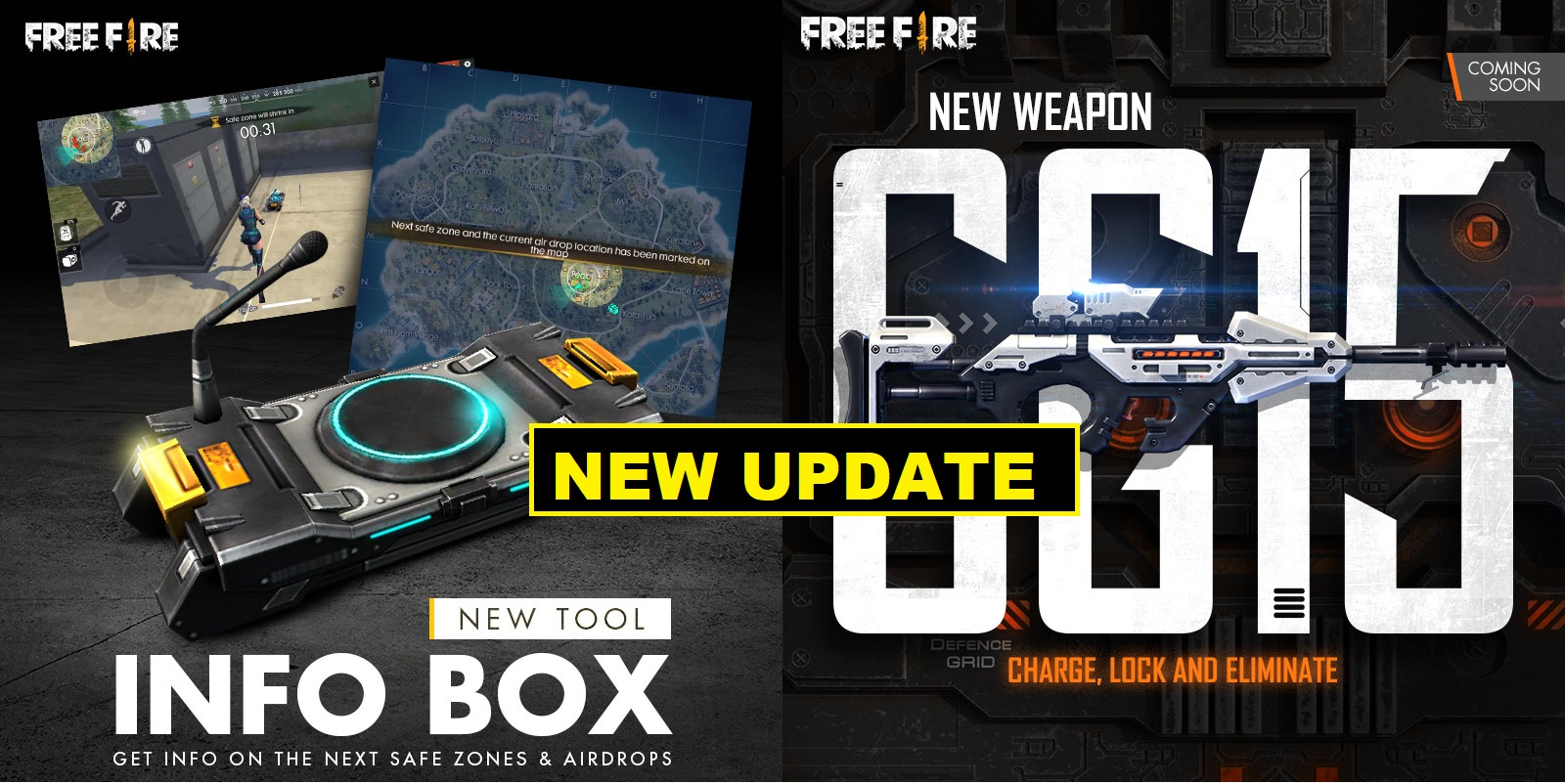 Garena Free Fire introduces 'InfoBox and New Weapon CG15' in