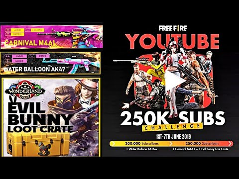 """Garena Free Fire New Event """"Free Fire Youtube 250k Subs Challenge"""": Take Part to get Exclusive Rewards"""
