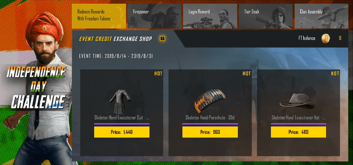 PUBG Mobile Independence Day Challenge is Here: Join to Get Free Rewards
