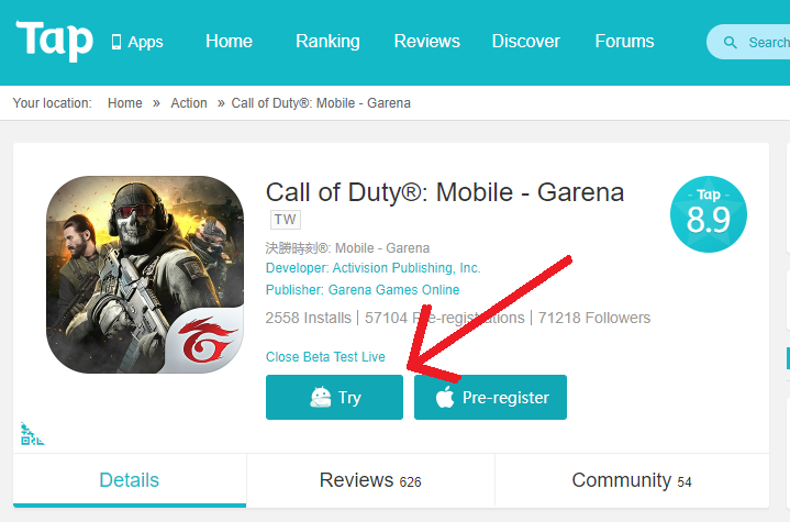Download Call of Duty Mobile Garena Beta Version