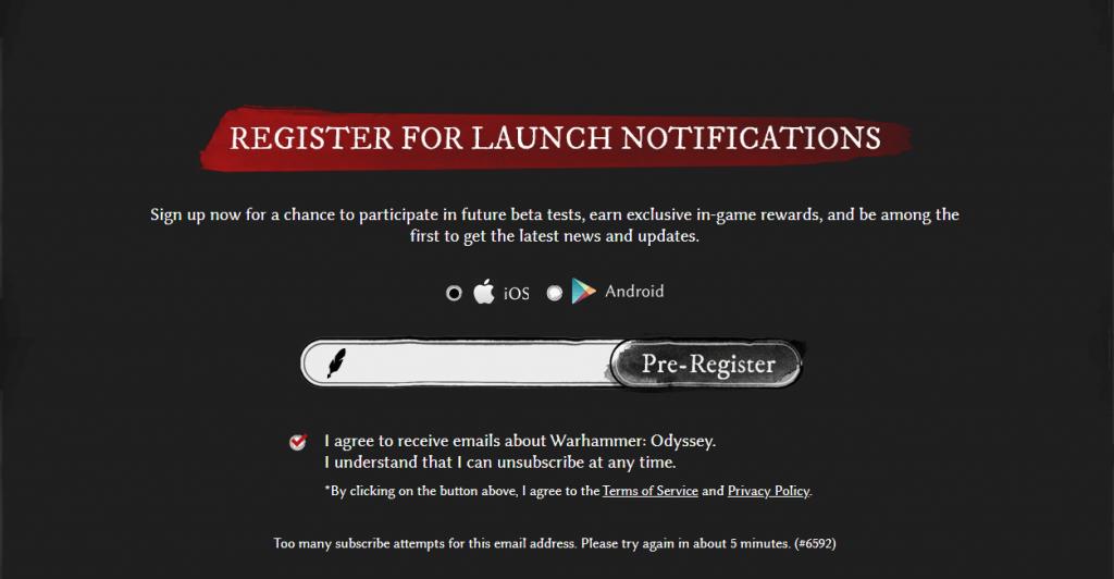 Pre-Register For Warhammer: Odyssey Upcoming Beta Tests