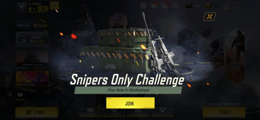 Call of Duty Mobile Gets a 'Sniper Only Mode' For Limited Time