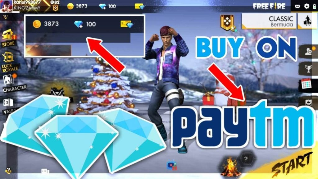 Now use Paytm In Garena Free Fire to Top up