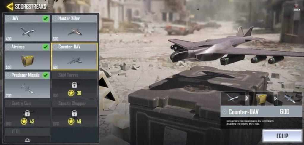 Call Of Duty Mobile: List of All Scorestreaks