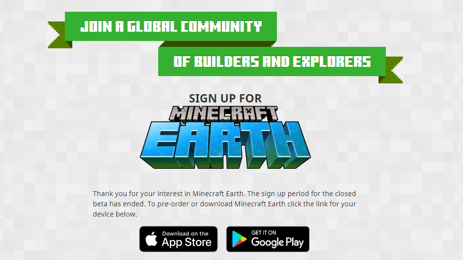 Minecraft Earth Beta Period Has Ended