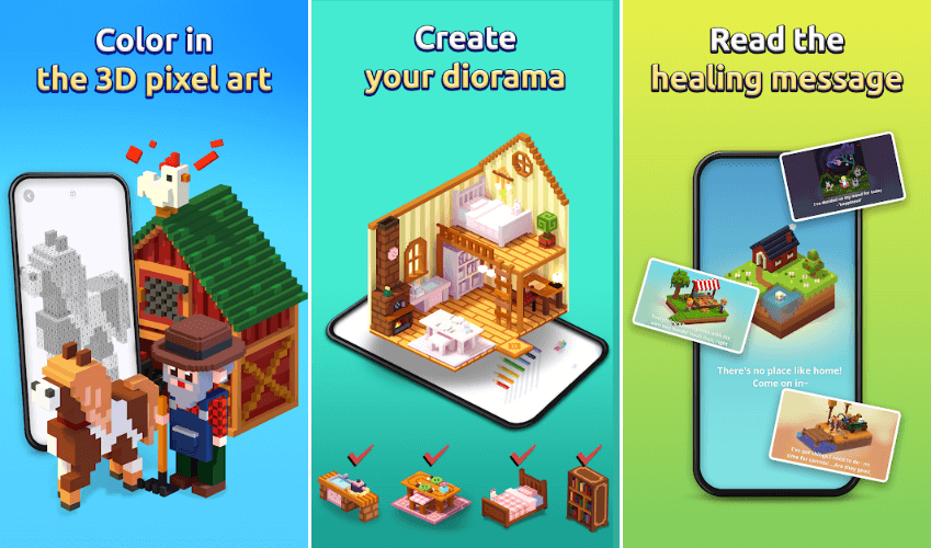My Coloring: 3D Pixel Art Diorama is Available for Pre-Registration