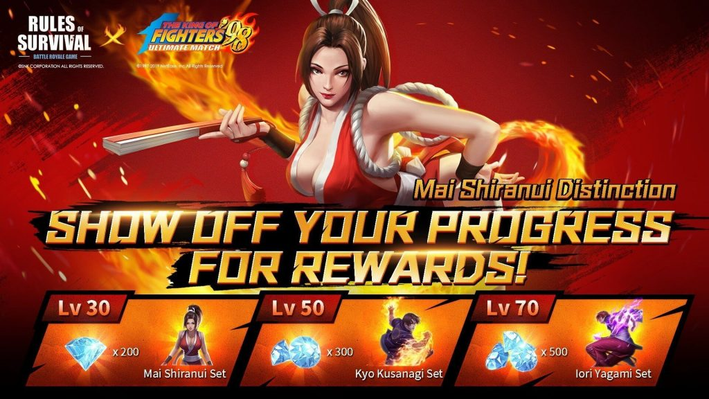Rules of Survival And The King of Fighters Collaboration
