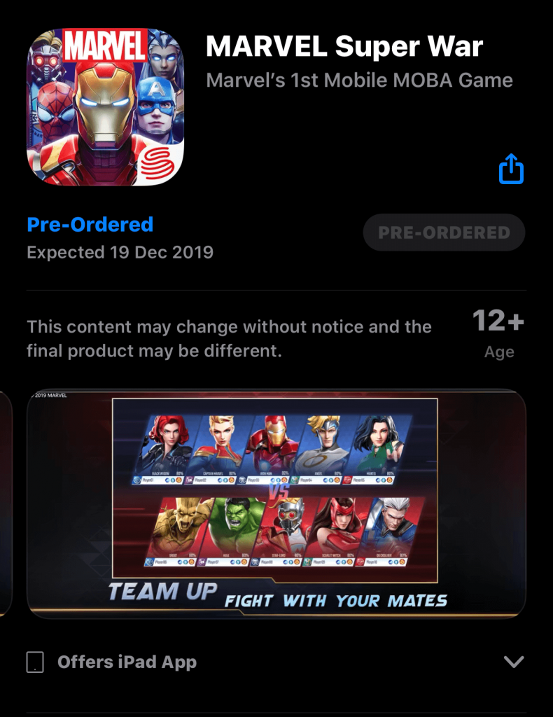 Marvel Super War Might Release Globally On 19th December!