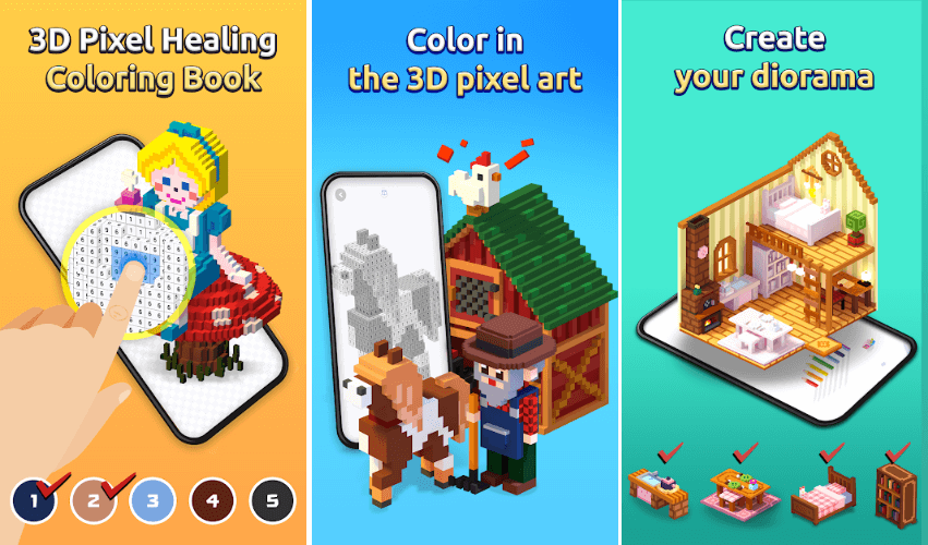 My Colouring: 3D Pixel Art Diorama Is Out For Pre-Registration