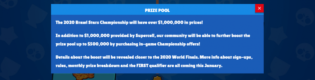 Supercell Announced Prize Pool of 1 Million USD for Brawl Stars Championship 2020