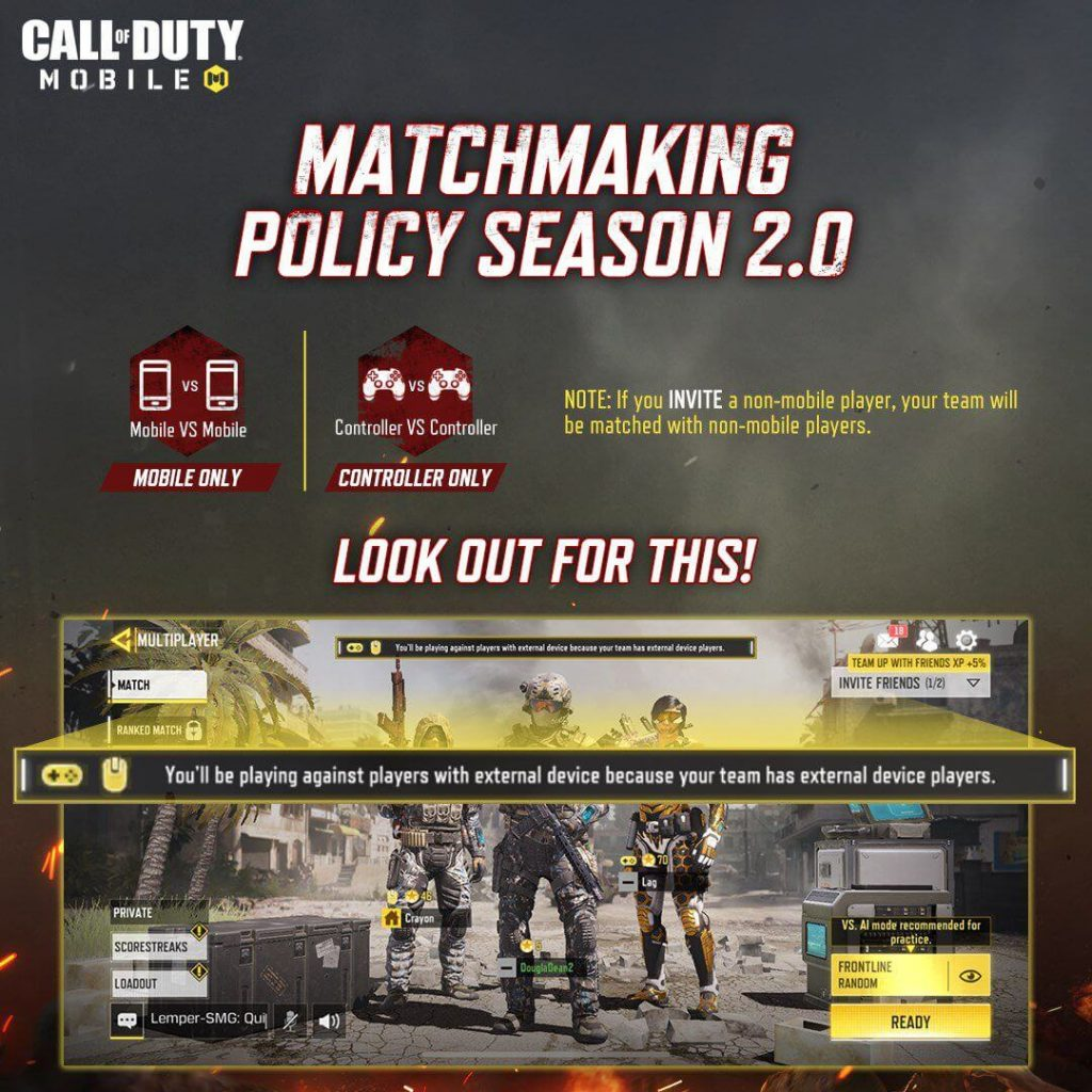 Call of Duty Mobile Gets a New Matchmaking Policy 2.0