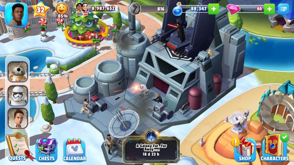 Disney Magic Kingdoms Added Star Wars Locations And Characters Celebrating Release Of 'The Rise of Skywalker'
