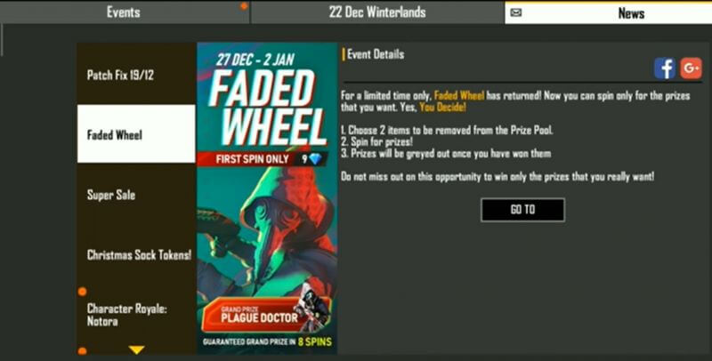 Free Fire: Faded Wheel Event Live To Grab Rewards