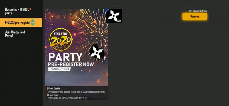 Garena Free Fire Brings In New Year Event