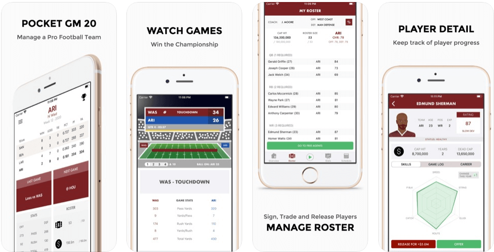 American Football Management Simulator 'Pocket GM 20' Is Now Available For iOS