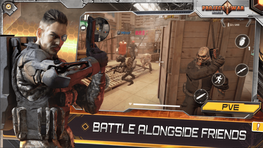 Project War Mobile Is An Online Shooter Action Game Available For Android