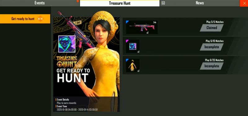 Free Fire Treasure Hunt Event Is Live Now