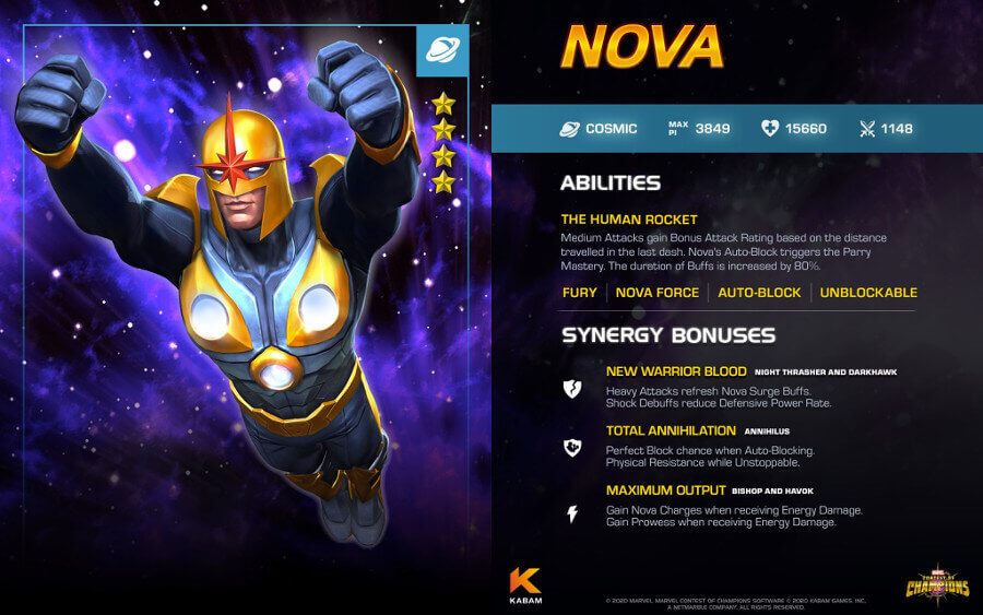 Marvel Contest Of Champions Gets A New Character Nova