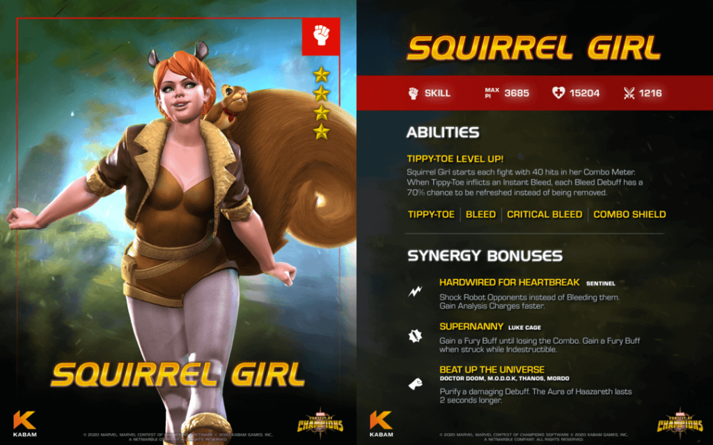 Squirrel Girl Enters Marvel Contest of Champions