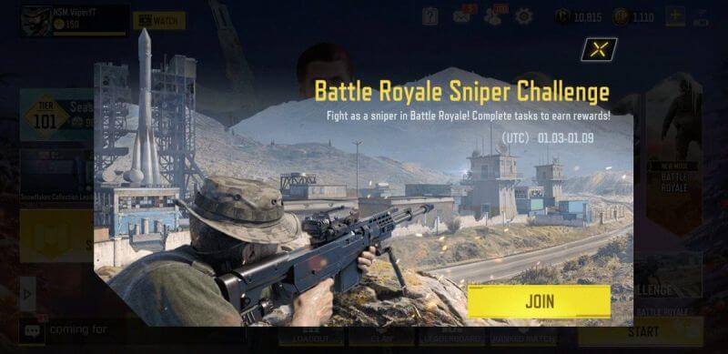 Call of Duty Mobile Opens Sniper Only Challenge