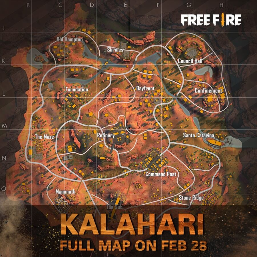 Kalahari Map Is Making Its Way Permanently In Free Fire With OB20 Update