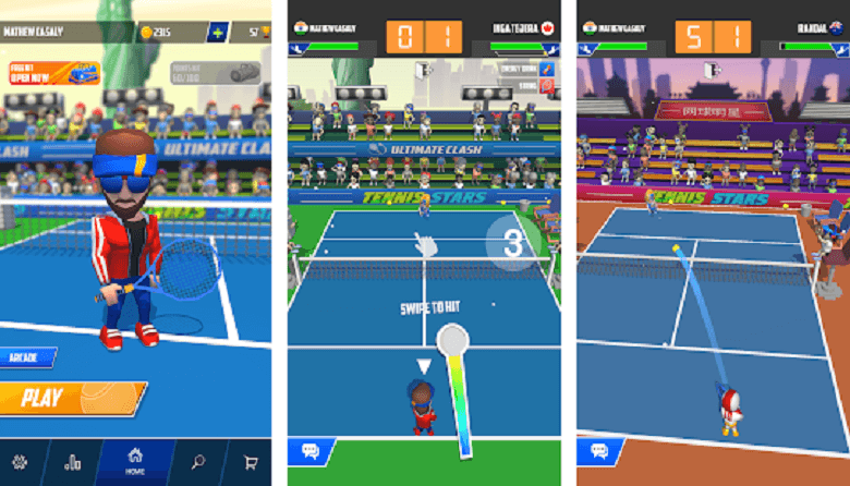 Tennis Stars: Ultimate Clash Game Review