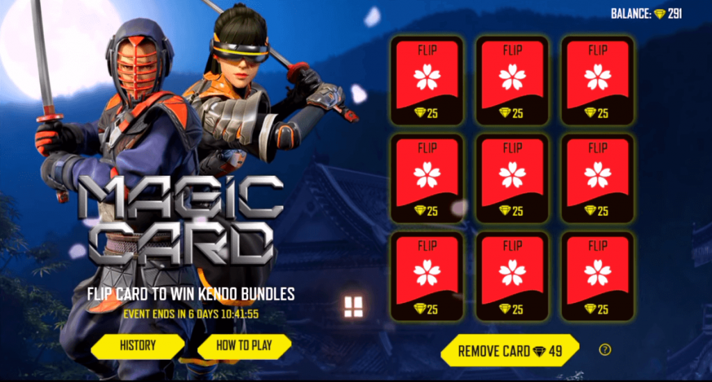 Here Is How To Get Samurai Faceless And Kendoka Blindfold Bundles In Free Fire - Magic Card Event