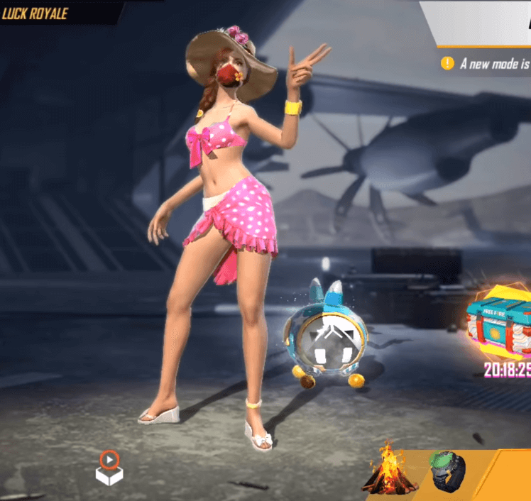 Free Fire Introduced Pink Diamond Royale To Win Summer Beach Bundle