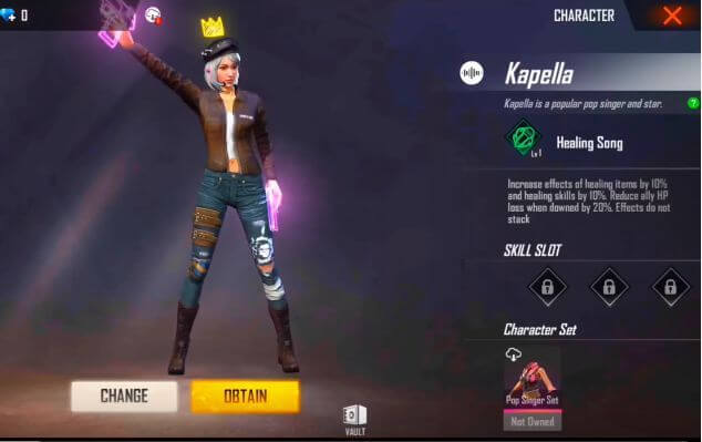 Free Fire: New Character Kapella Is Coming With OB21 Update