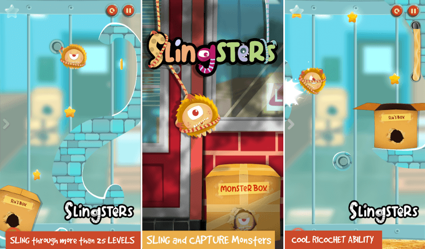 Slingsters Puzzle Game By Nappy Cat - Game Review