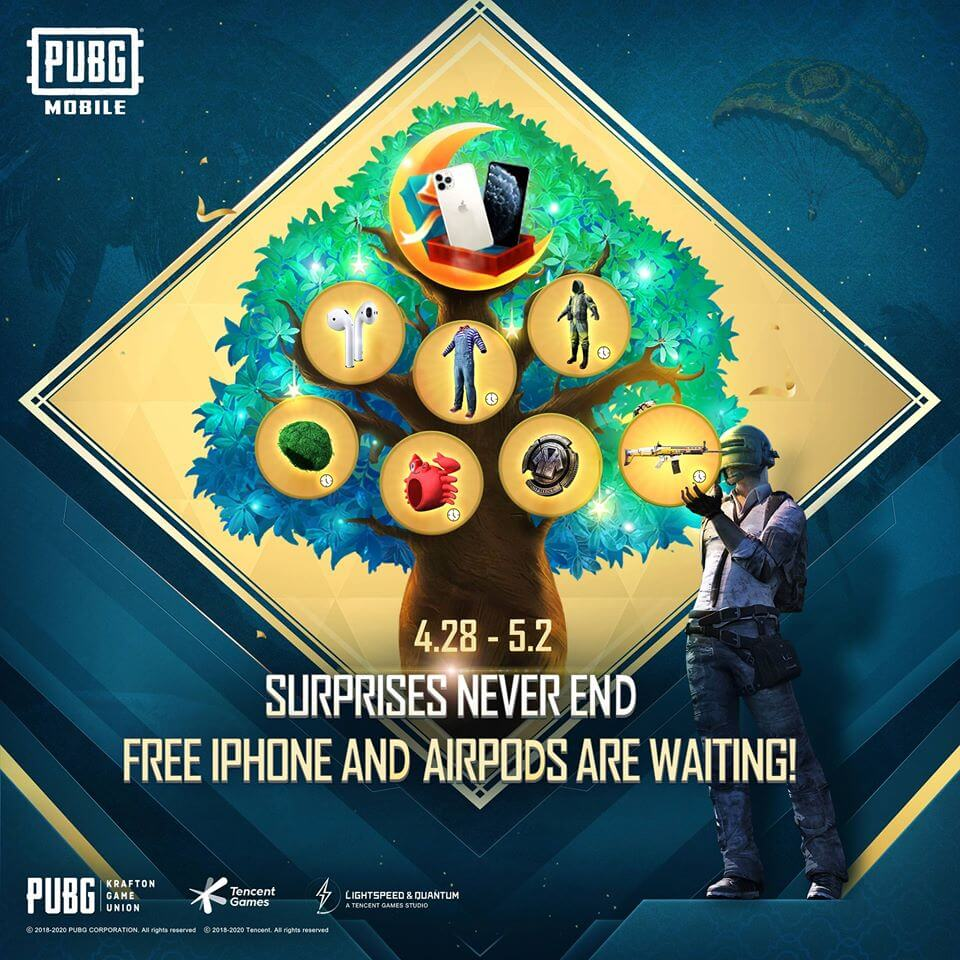 PUBG Mobile is Giving Away iPhone 11 Pro and AirPods - Here is How To Win