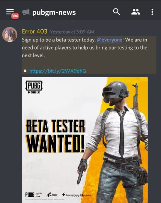 PUBG Mobile is Recruiting New Beta Test Players