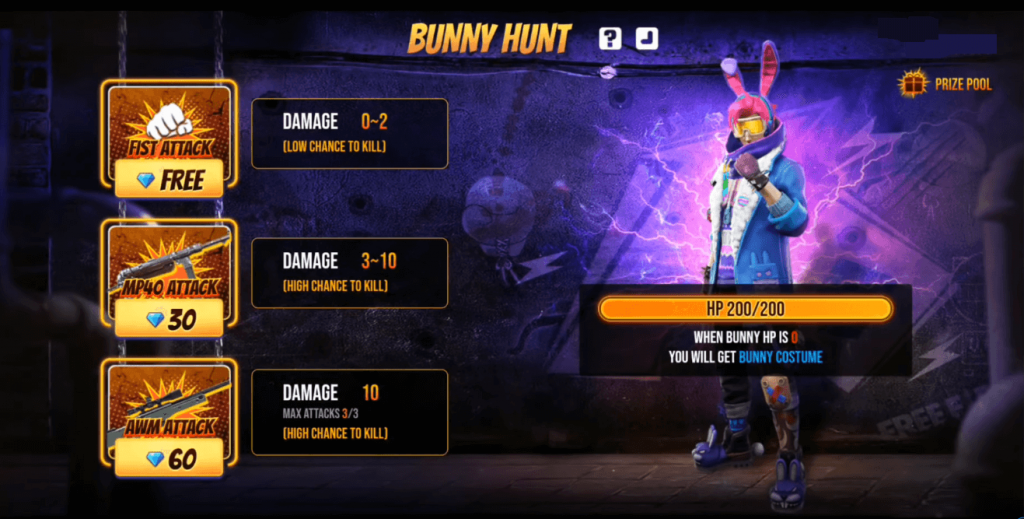 Free Fire: Play Bunny Hunt Event To Get Punkster Bunny Bundle