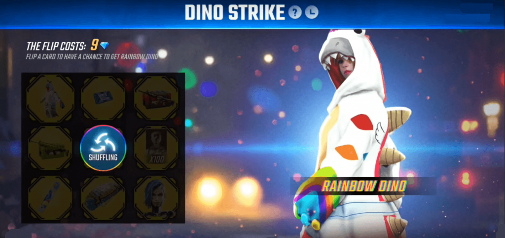 Free Fire Introduced Dino Strike Event To Get Rainbow Dino Bundle