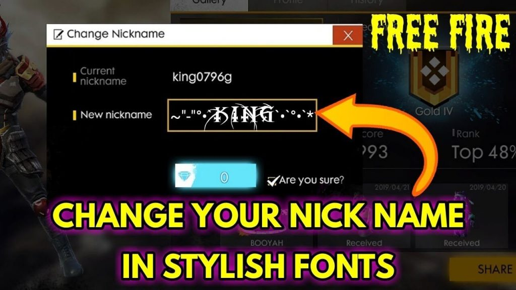 Here Is How To Write Fancy Name In Free Fire