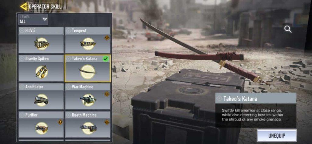 Call of Duty Mobile Officially Revealed A New Operator Skill 'Katana' For Season 8