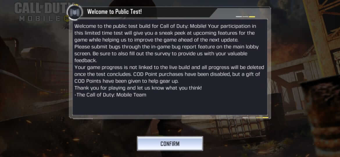 Download Call of Duty Mobile Season 7 Test Server