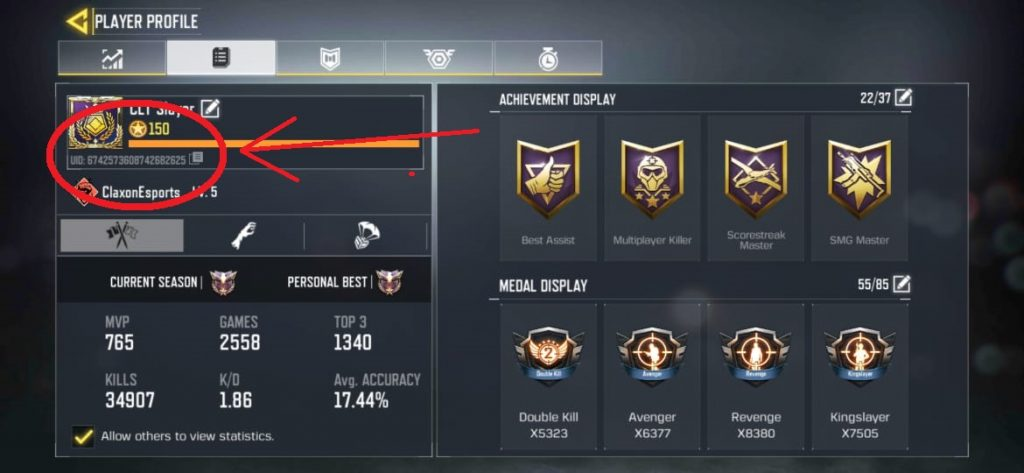 What is UID in Call of Duty Mobile?