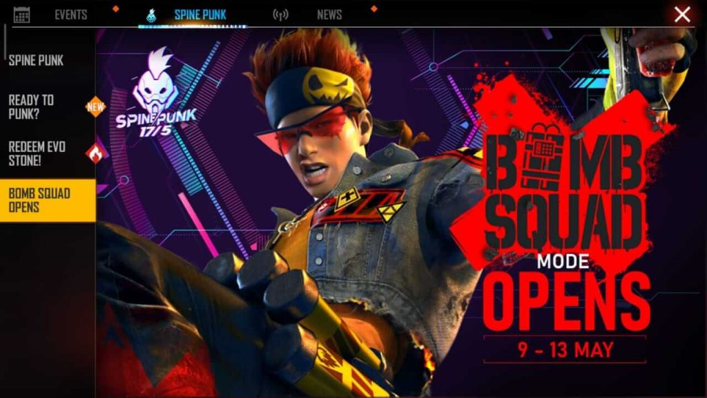 Free Fire Re-Opened Bomb Squad Mode For Limited Time