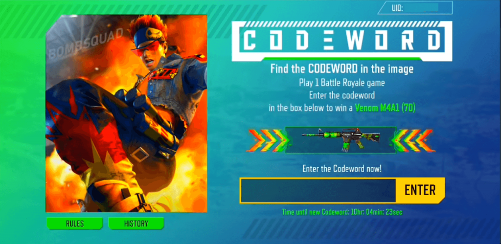 How To Play Free Fire CODEWORD Event