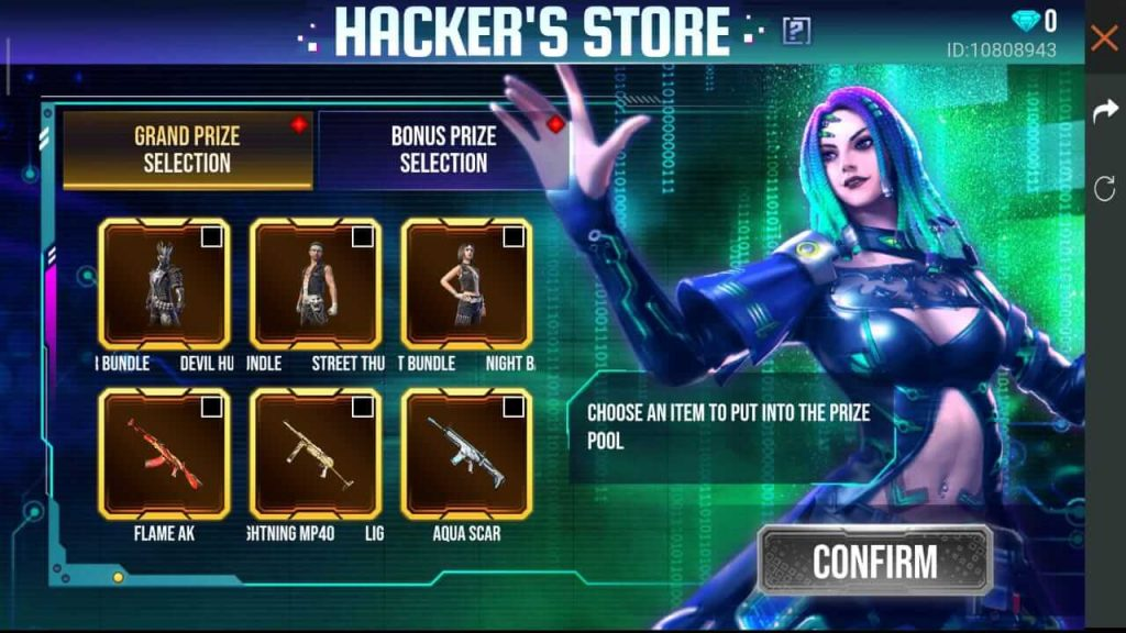 Free Fire Hacker's Store 5.0: How To Spin And Win