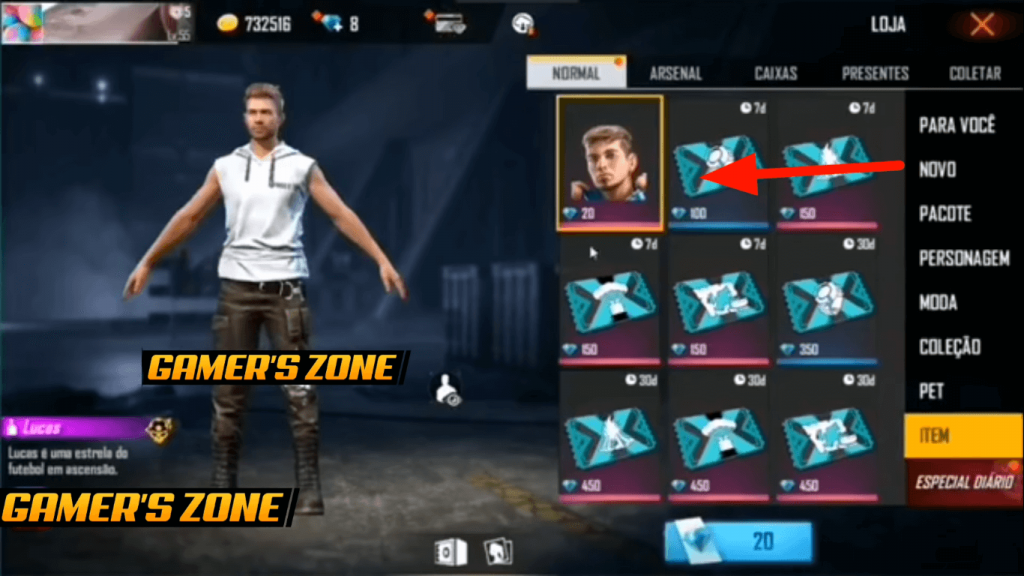 Free Fire New Character 'Lucas' Details