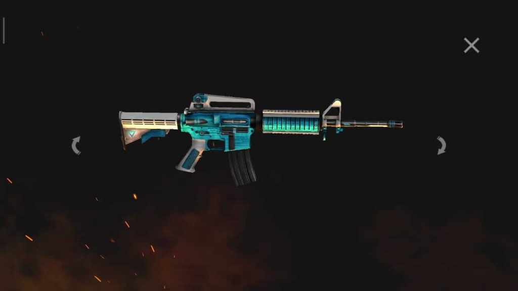 Free Fire Is Giving Away 'M4A1- Ice Blue' Permanent Skin For Free