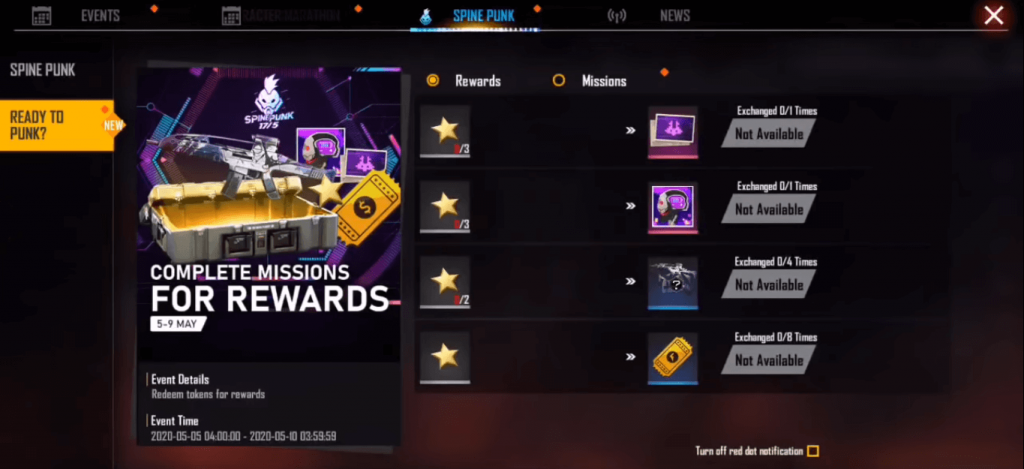Free Fire Spine Punk Event: Here Is How To complete