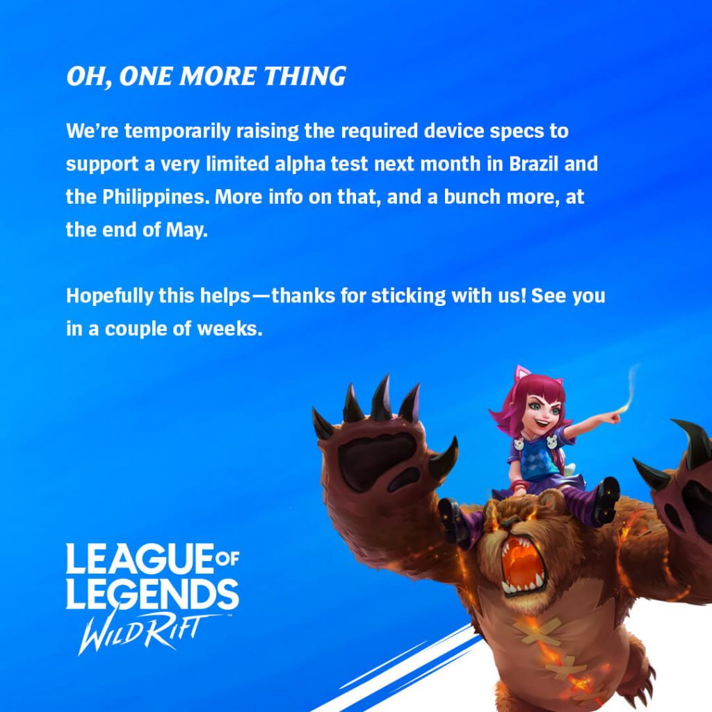 League of Legends Wild Rift Alpha Test Announced In Selected Regions