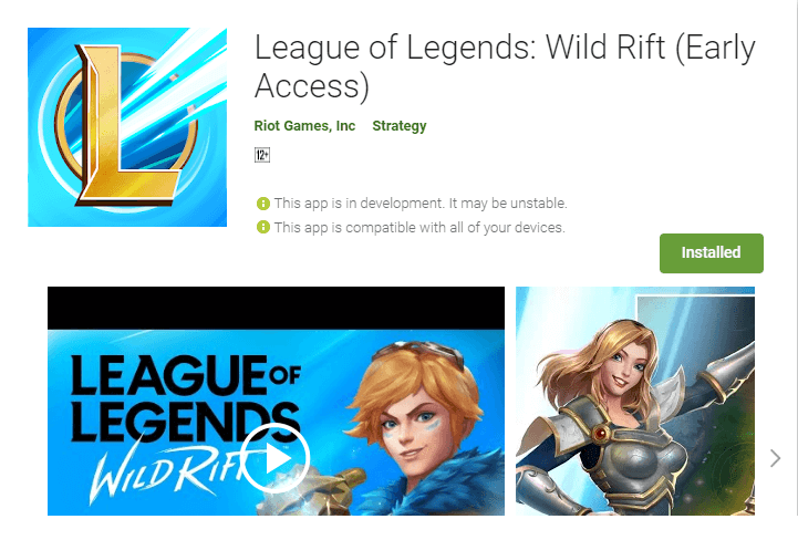 League Of Legends Wild Rift Early Access Version Released Mobile Mode Gaming