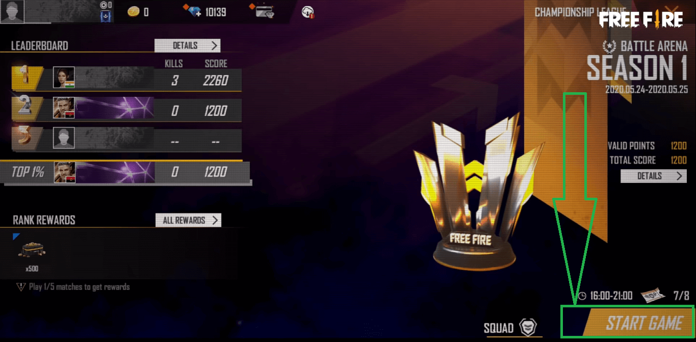 How To Play Open Qualifiers In Free Fire Battle Arena Tournament