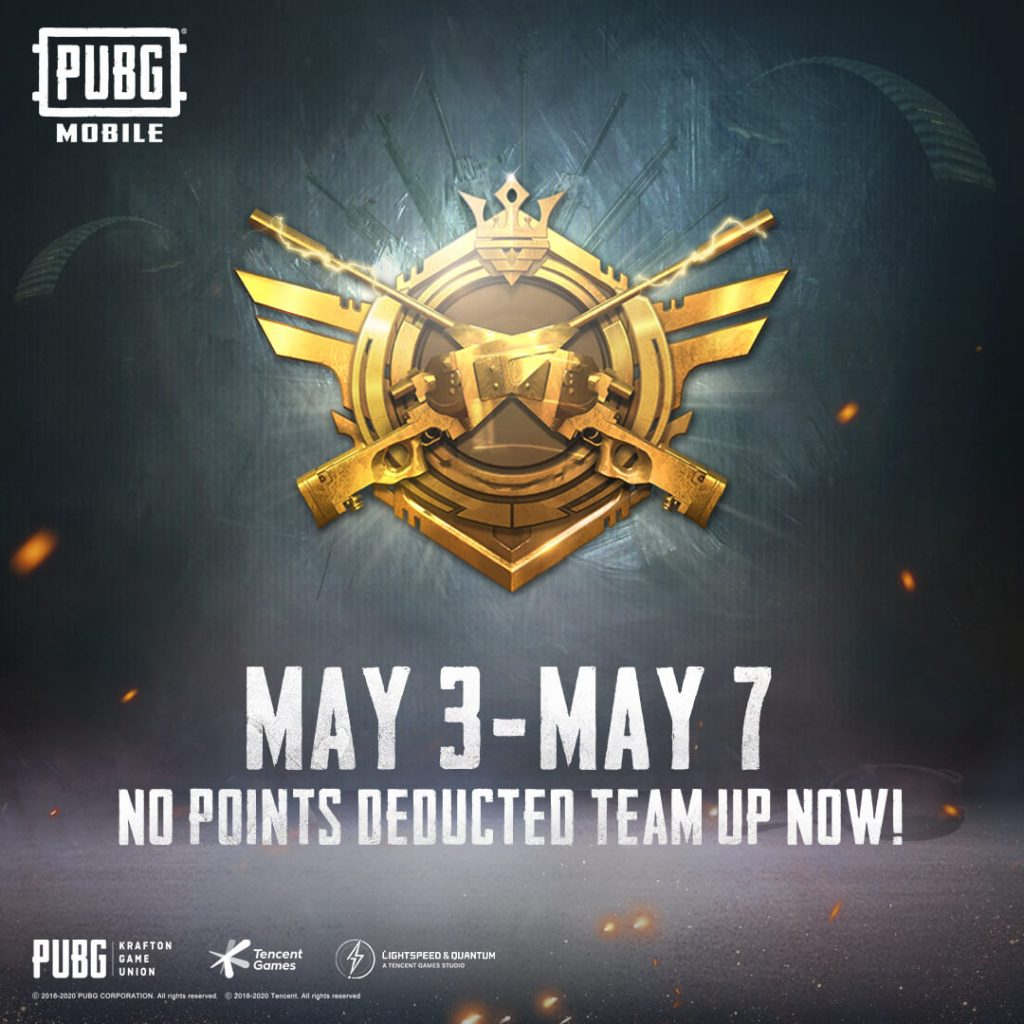 PUBG Mobile: No Rank Points To Be Deducted This Week