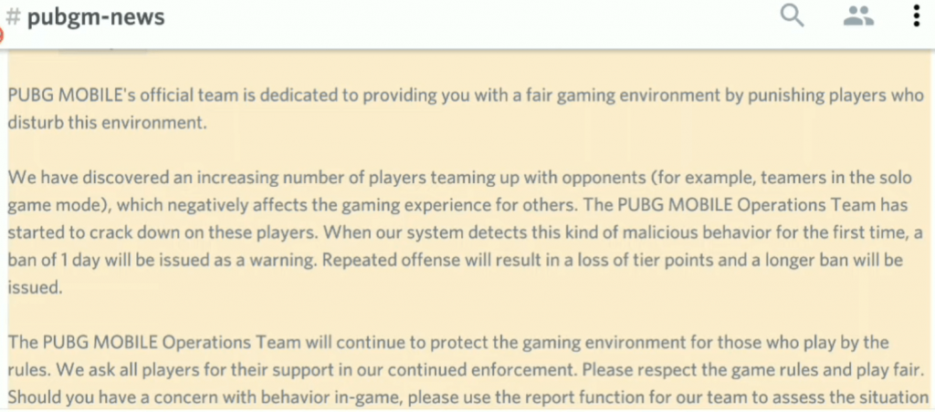 PUBG Mobile Latest News: This Unfair Practice can now lead to an Account Ban