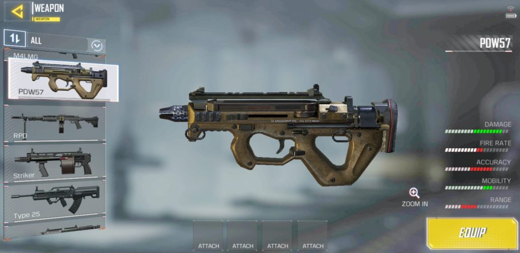 Call of Duty: Mobile PDW-57 Class Setup For Aggressive Gameplay